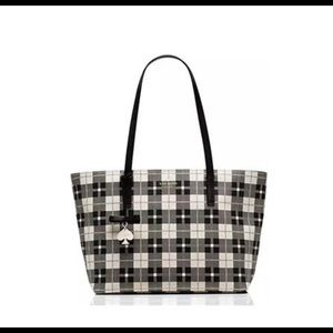 Kate ♠️ Hawthorne Ln plaid Ryan tote
